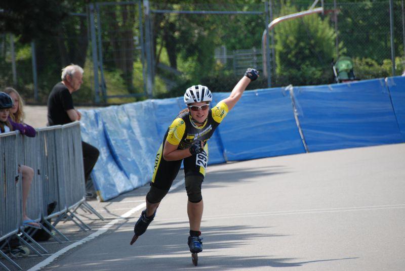 Katja bei der Bahnmeisterschaft in Großbettlingen 2011