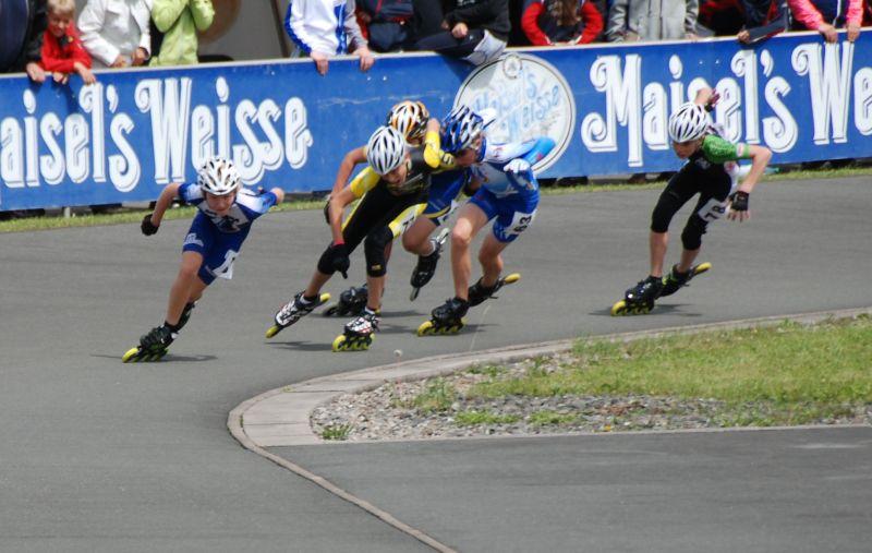 Moritz beim 300m Rennen bei der DM2011