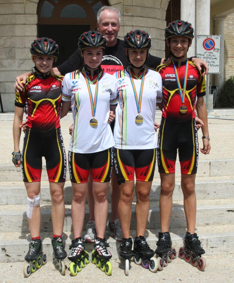 Die Sportler aus Baden-Württemberg mit Ihren Medaillen