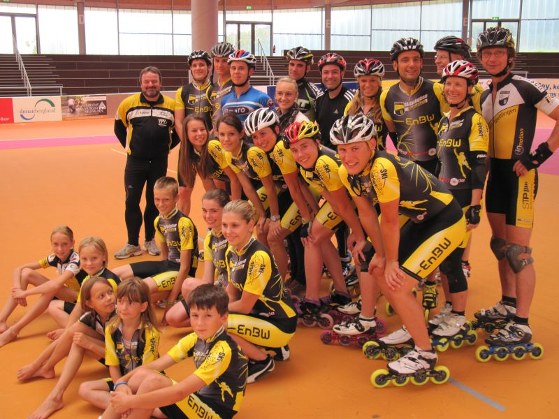 Gruppenbild in der Arena Geisingen 2011
