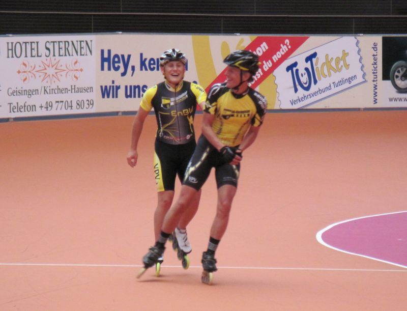 Jens und Martin auf der Bahn