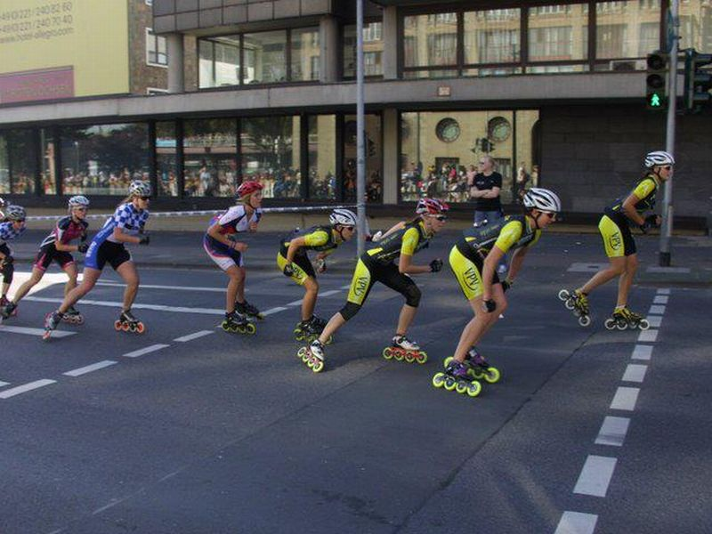Perfekte Zusammenarbeit beim Köln Marathon 2011