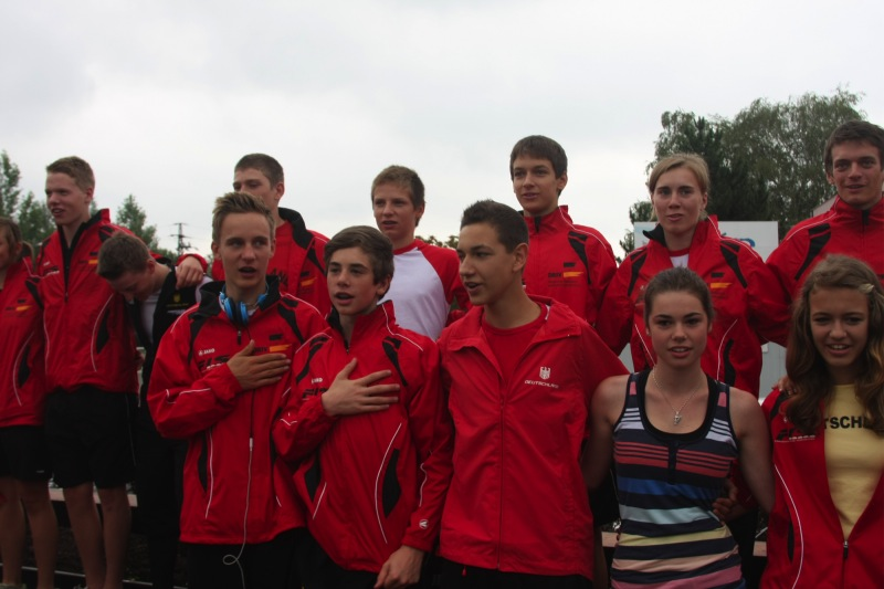 Das Team bei der Siegerehrung heute Morgen
