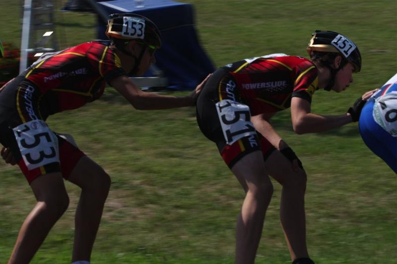 Ricardo Kugler und Patrick Reuter im Vorlauf 5000m Ausscheidung