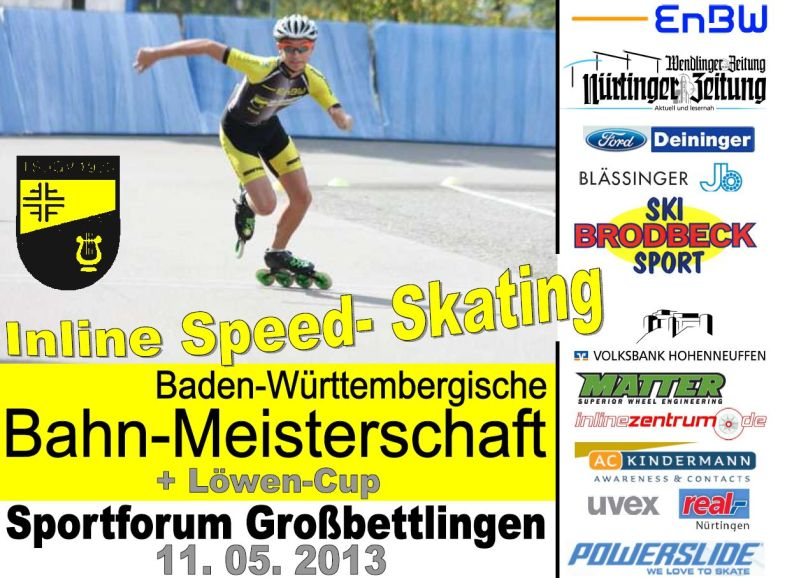 Plakat Bahnmeisterschaft 2013