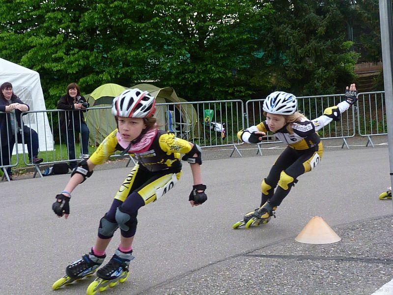 Nadine und Lisanne im Rennen